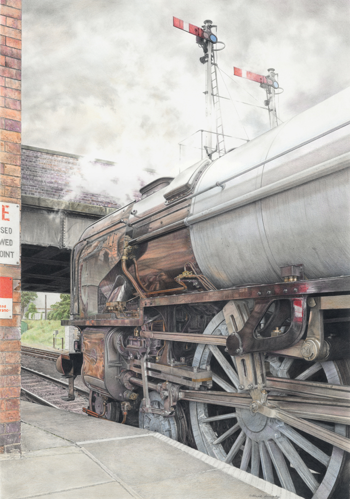 Mark Langley Railway Artist: A1 Tornado 60163 on first runs at Loughborough